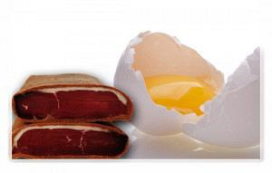 Αυγά με παστουρμά σαγανάκι