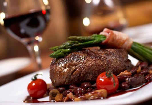 Beef with sweet wine and spices