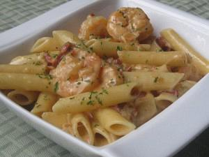 Penne with shrimp and vodka sauce