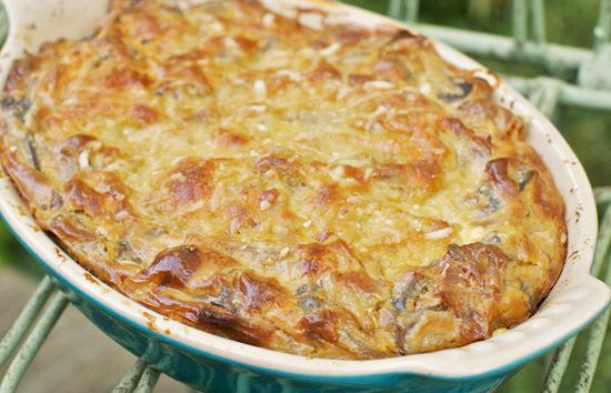 Mushrooms au gratin
