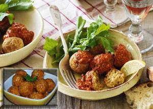 Ρεβυθοκεφτέδες με σάλτσα