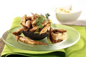 Γαύρος τηγανητός με σουσάμι