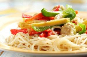Σπαγγετίνι με λαχανικά