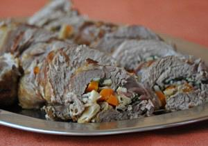 Roast rolled pork