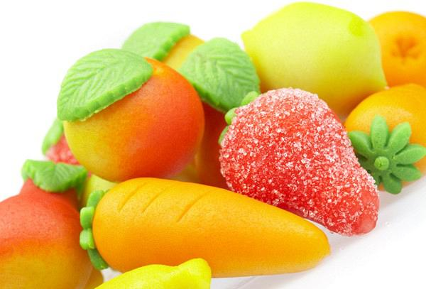 Αμυγδαλωτά (φρουτάκια και λαχανικά)