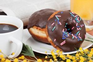 Ντόνατς με σοκολάτα