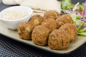 Greek Lenten revithokeftedes (Chickpea fritters)