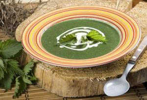 Σούπα με τσουκνίδα και μάραθο