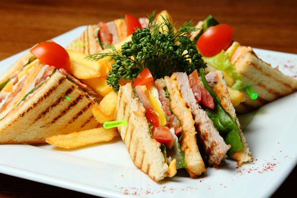 Homemade Club Sandwich