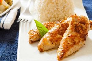 Κοτόπουλο με ροδάκινα