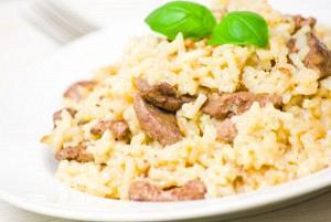 Ριζότο από άγριο ρύζι με κοτόπουλο
