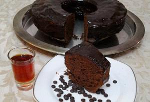 Κέικ σοκολάτας με μαύρο ρούμι