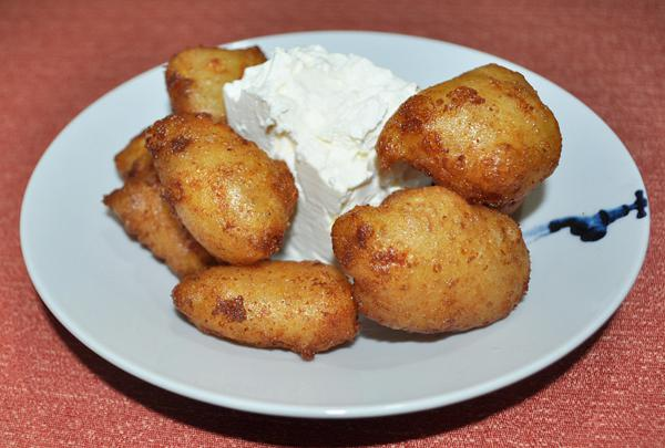 Greek cheese loukoumades