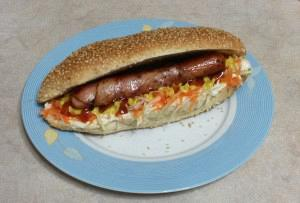 Home-made hot dog