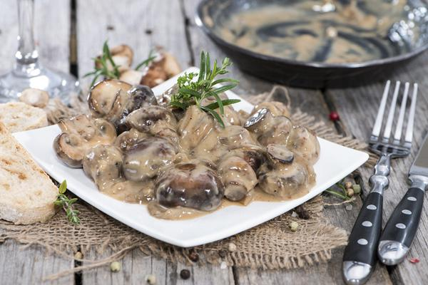 Mushrooms a la creme