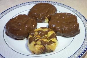 Γαλακτομπούρεκα στριφτά με σοκολάτα