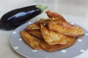 Fried eggplants