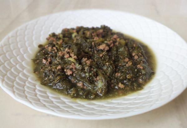 Σπανάκι με κιμά