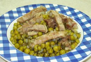 Lamb with peas
