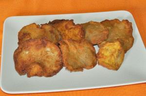Pleurotus mushrooms fried in bread crumbs