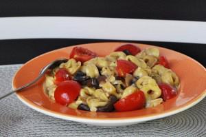 Τορτελίνια με σάλτσα μανιταριών
