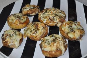 Mozzarella stuffed mushrooms