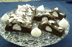 Σοκολατένιος κορμός με μπεζέδες
