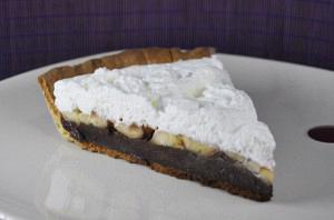 Banoffee tart with chocolate