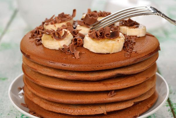 Greek chocolate pancakes (Tiganites)