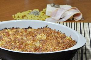 Baked pasta with bechamel
