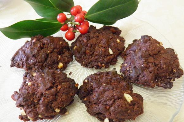 Τραγανά σοκολατένια μπισκότα