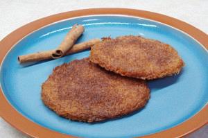 Kataifi disks with cinnamon