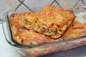 Sausage cannelloni