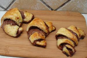 Chocolate and chestnut croissant