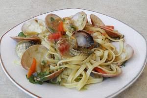 Tagliatelle with seafood