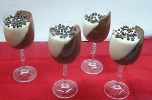 Δίχρωμη κρέμα σοκολάτα – βανίλια