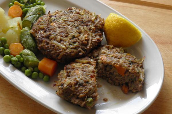 Μπιφτέκια με λαχανικά