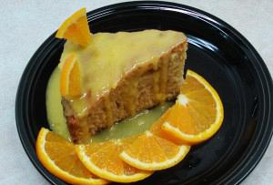 Κέικ πορτοκάλι με γλάσο πορτοκαλιού