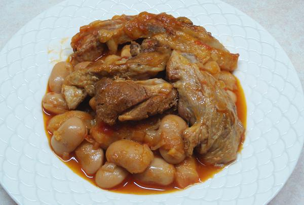 Lamb with butter beans