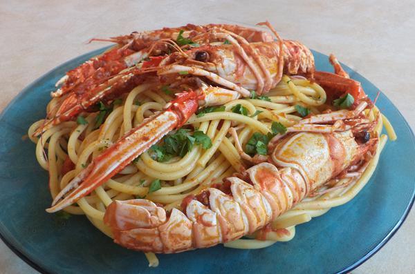 Crawfish spaghetti