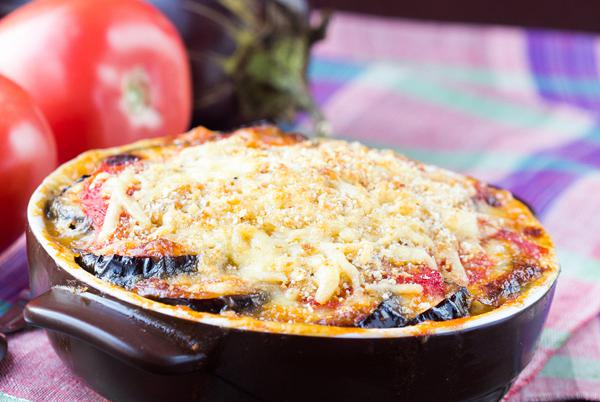 Greek tourlou with cheese ( Baked vegetables with cheese )