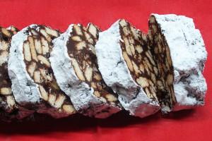 Greek banana mosaiko ( Greek chocolate,banana and biscuits dessert )