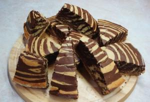 Κέικ σοκολάτας ριγέ
