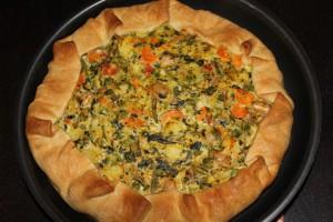 Πίτα λαχανικών ανοιχτή