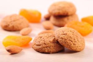 Cookies αμυγδάλου με βερίκοκα