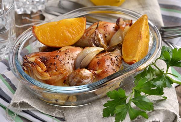 Κοτόπουλο φούρνου με πορτοκάλι