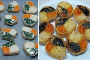 Πιτάκια φούρνου τριών γεύσεων